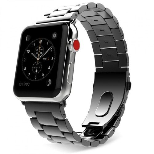 Pasek Tech-Protect Stainless Black do Apple Watch 1/2/3 (42MM)