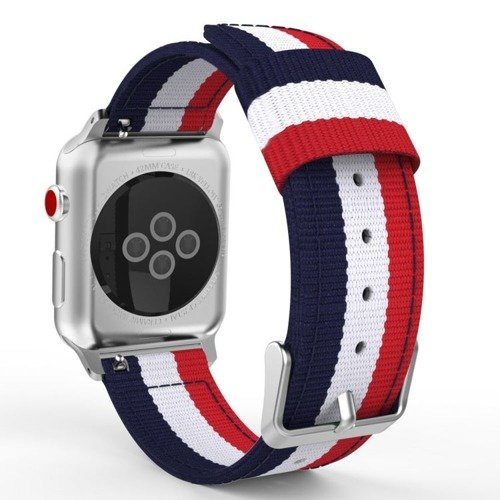 Pasek Tech-Protect Welling Navy / Red do Apple Watch 1 / 2 / 3 (42MM)