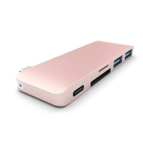 Przejściówka Satechi USB-Hub Type-C USB Rose Gold do MacBook 12'
