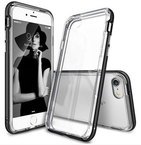 Rearth Ringke Frame Black | Obudowa + folia ochronna dla modelu Apple iPhone 7  / 8