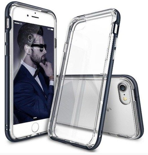 Rearth Ringke Frame Metal Slate | Obudowa + folia ochronna dla modelu Apple iPhone 7  / 8