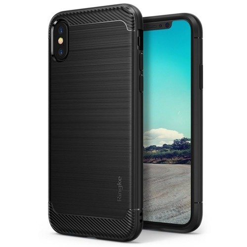 Rearth Ringke Onyx Black | Obudowa + folia ochronna dla modelu Apple iPhone X / 10