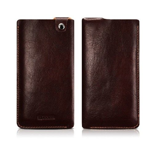 Skórzane etui iCarer Leather Pouch Brown | Apple iPhone 7 / 8 Plus
