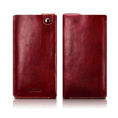 Skórzane etui iCarer Leather Pouch Red | Apple iPhone 7 / 8 Plus