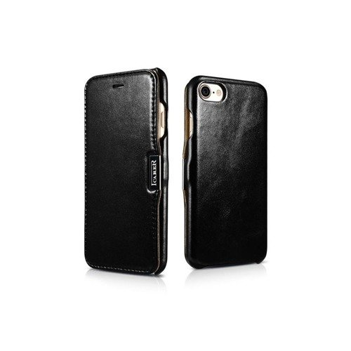 Skórzane etui iCarer Vintage Black | Apple iPhone 7