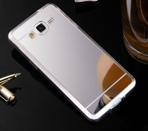 Slim Mirror Case Srebrny | Etui dla Samsung Galaxy Grand Prime