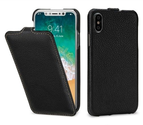 Stilgut UltraSlim Czarne | Etui z klapką dla modelu Apple iPhone X / 10