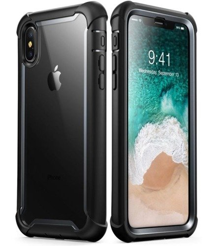 Supcase IBLSN Ares Black | Obudowa dla modelu Apple iPhone X / 10