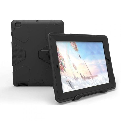 TECH-PROTECT Geometric Black | Obudowa Apple iPad 2 / 3 / 4