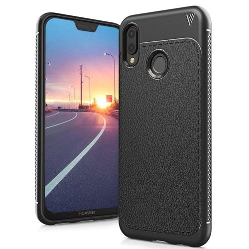 TECH-PROTECT TPULeather Black | Obudowa dla Huawei P20 Lite