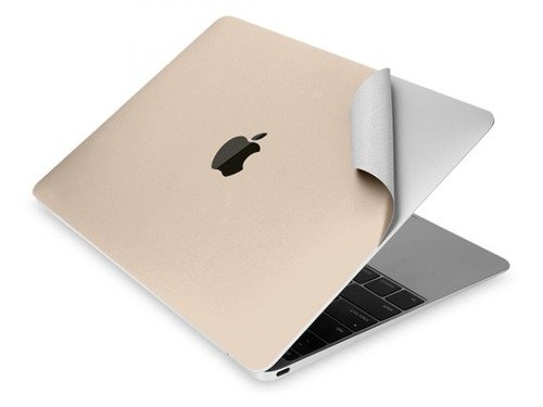 Tech-Protect 3M Skin Champagne Gold | Zestaw 3 folii ochronnych do Apple Macbook 12