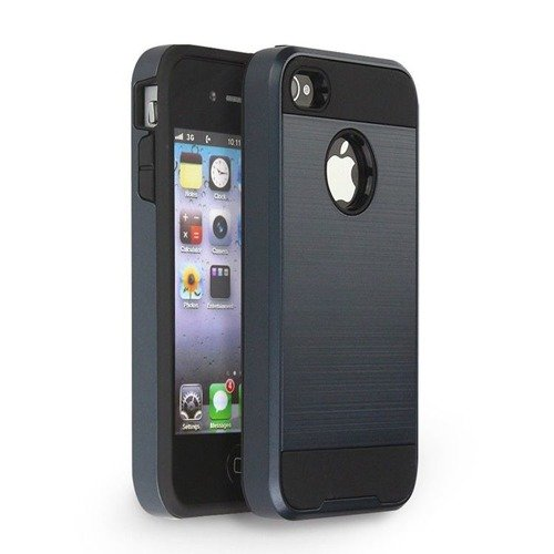 Tech-Protect Hybrid Armor Metal Slate | Obudowa ochronna dla modelu Apple iPhone 4 / 4S