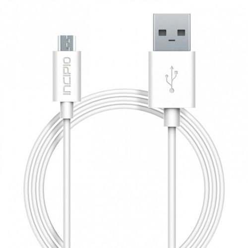 Uniwersalny kabel Incipio Charge/Sync microUSB cable 1m  - kolor biały