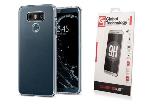 ZESTAW | ETUI SPIGEN LIQUID CRYSTAL SHINE CLEAR + SZKŁO PERFECT GLASS - LG G6