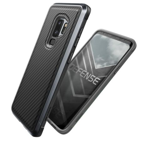 Aluminiowa obudowa X-Doria Defense Lux Samsung Galaxy S9 Plus Black Carbon