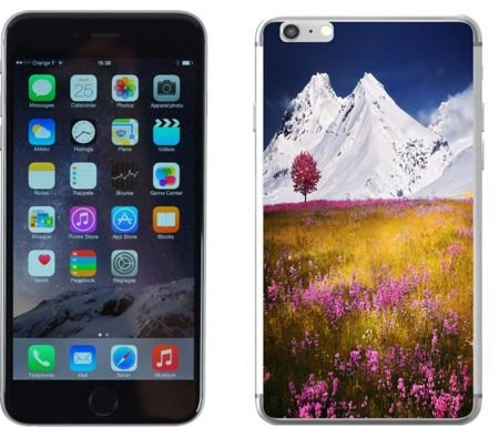 Apple iPhone 6 / 6S - etui na telefon - Kolekcja widoki - łąka - G22