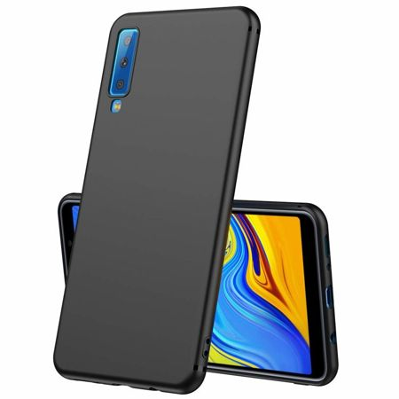 ETUI SAMSUNG GALAXY A7 2018 - ULTRA SLIM SOFT MAT - BLACK