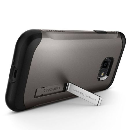 ETUI do GALAXY XCOVER 4 | SPIGEN SLIM ARMOR GUNMETAL