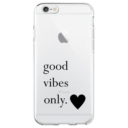 ETUI iPhone 6 / 6S - SPIGEN LIQUID WZÓR GOOD VIBES ONLY
