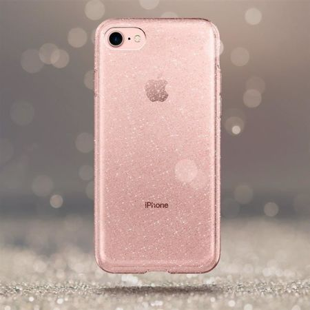 ETUI iPhone 7 / 8 - SPIGEN LIQUID CRYSTAL - GLITTER ROSE QUARTZ