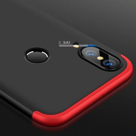 Etui 360 Protection przód + tył Huawei P20 Lite Black / Red