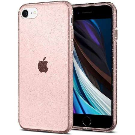 Etui Spigen Liquid Crystal Glitter Rose Quartz na Apple iPhone 7 / 8