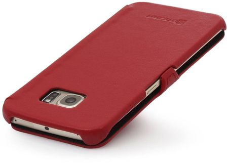 Etui Stilgut UltraSlim Book Samsung Galaxy S6 Edge Czerwone