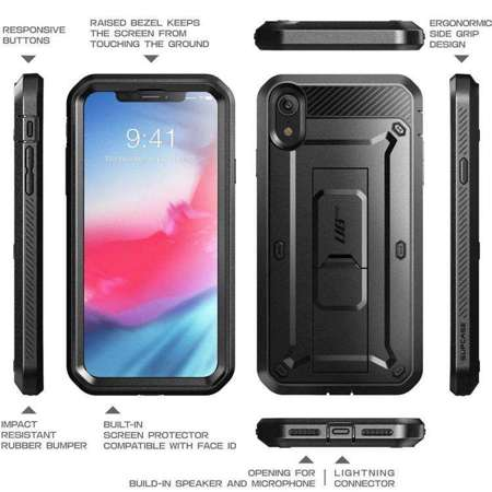 Etui do iPhone XR | SUPCASE UNICORN BEETLE PRO BLACK