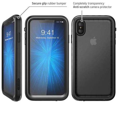 Etui do iPhone XS Max | SUPCASE IBLSN AEGIS FROST/BLACK