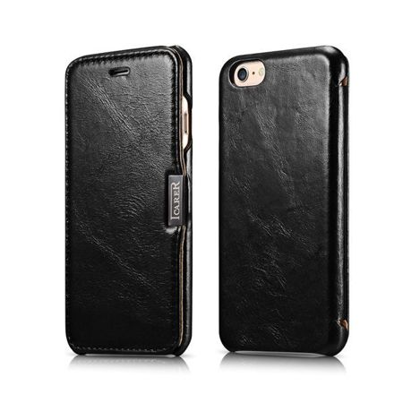 Etui iCarer Side Open Vintage Black | Apple iPhone 6 / 6S