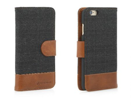 Etui z klapką StilGut Talis Fashion 02 - koniakowe - iPhone 6 4.7""