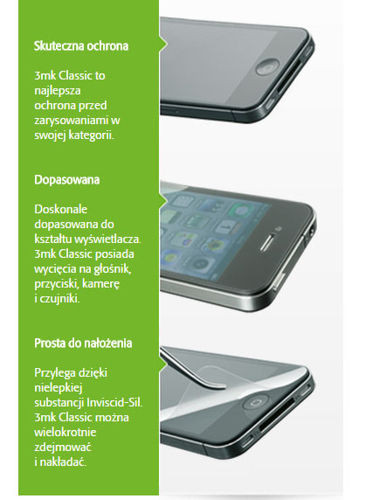 Folia OCHRONNA 3MK Classic HTC WINDOWS 8S 2 sztuki