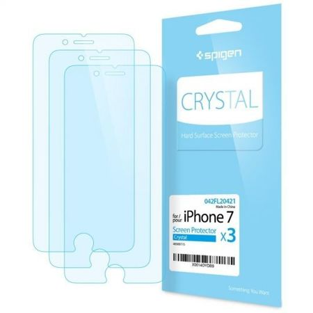 Folia ochronna Spigen Crystal Film ( 3-pack ) na Apple iPhone 7 / 8
