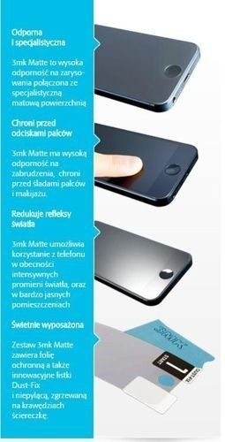 Matowa Folia ochronna 3MK Matte do BLACKBERRY Z30