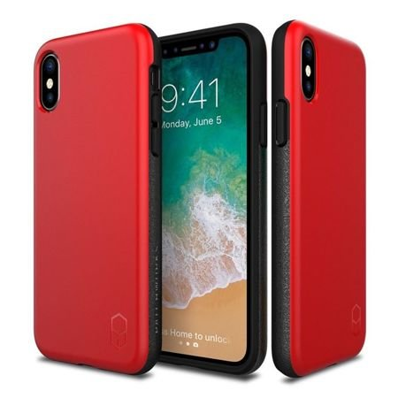 Obudowa Patchworks Level ITG Apple iPhone X / 10 Red / Gray