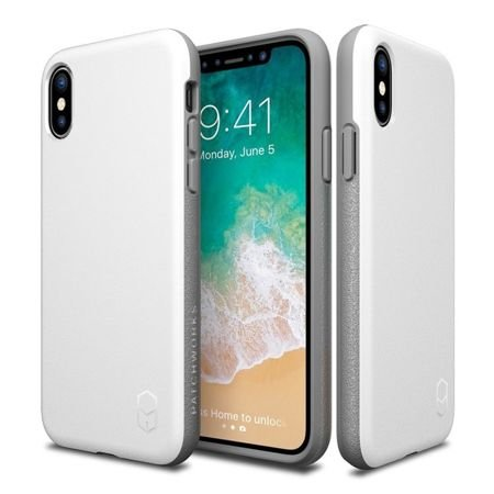 Obudowa Patchworks Level ITG Apple iPhone X / 10 White / Gray
