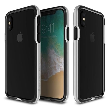 Obudowa Patchworks Level Silhouette Apple iPhone X / 10 Silver / Black