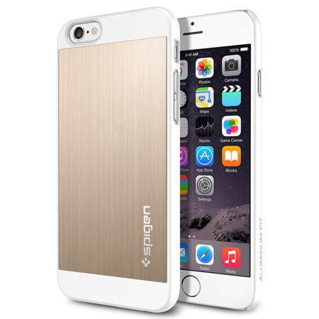 Obudowa Spigen Aluminium Fit  Apple iPhone 6 / 6S Champagne Gold