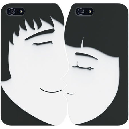 Obudowy Ozaki O!Coat Lover+ Forever OC532FR  black/white | Apple iPhone 5 / 5S / SE