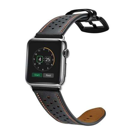 Pasek Tech-Protect Leather Black do Apple Watch 1/2/3 (42MM)