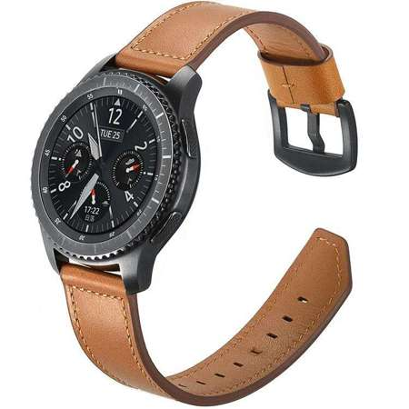Pasek Tech-Protect Leather Brown do Samsung Gear S3