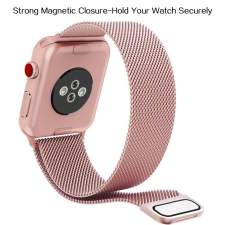 Pasek Tech-Protect MilaneseBand Rose Gold do Apple Watch 1 / 2 / 3 (42mm)