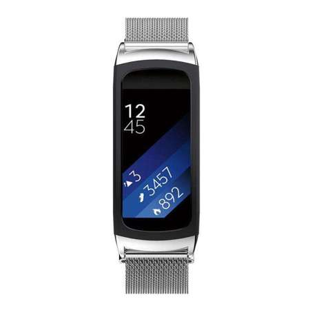 Pasek Tech-Protect MilaneseBand Silver do Samsung Gear FIT 2 / 2 PRO