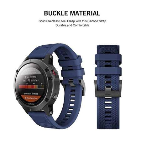 Pasek Tech-Protect Smooth Navy Blue do Garmin Fenix 5 (22mm)