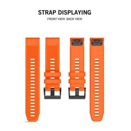 Pasek Tech-Protect Smooth Orange do Garmin Fenix 5 (22mm)