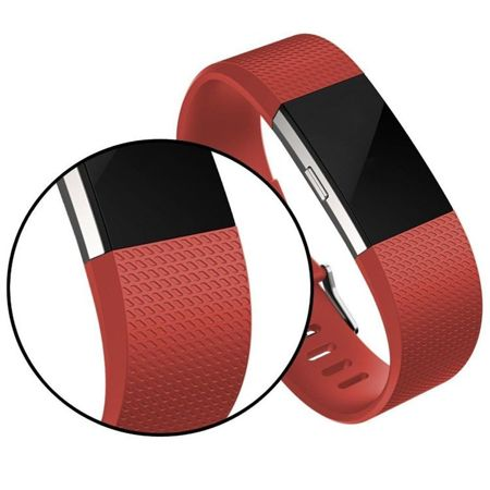 Pasek Tech-Protect Smooth Red do FitBit Charge 2