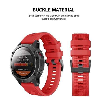 Pasek Tech-Protect Smooth Red do Garmin Fenix 5 (22mm)