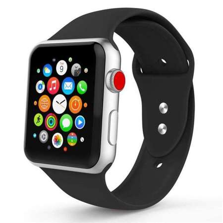 Pasek Tech-Protect Smoothband Black do Apple Watch 1 / 2 / 3 (38mm)
