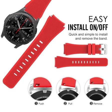 Pasek Tech-Protect Smoothband Red Samsung Gear S3