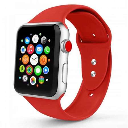 Pasek Tech-Protect Smoothband Red do Apple Watch 1 / 2 / 3 (38mm)
